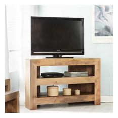 Santiago Light Mango Wood Corner TV Unit
