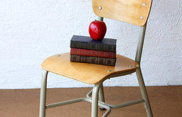 Vintage Child's School Chair by Vintage Avacado