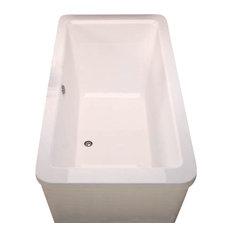"""Atlantis Tubs 3267AS Aquarius 34x67x24"""" Freestanding Soaker Bathtub"""