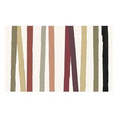 "Cinta Striped Linen Tablecloth, Multicolor, 66""x108"""