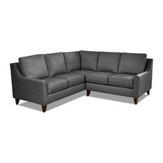 Avenue 405 Gianni L Shape Sectional, Charcoal