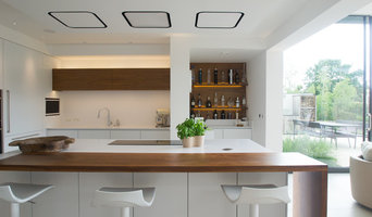 White Kitchen with Walnut
