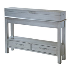 Messina  2-Drawer, Flip-top Lid Console Table