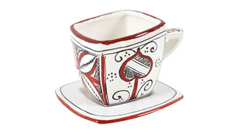 Aracio Rosse Cup and Saucer