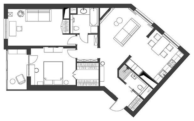 Неоклассика Внутренний план by MO interior design