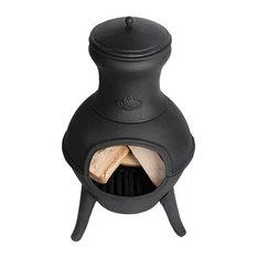 """Esschert Designs - Esschert Design Cast Iron Terrace Chimenea Heater 16"""" Diameter - Chimineas"""