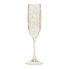 Champagne Flute, Set Of 4, Gold