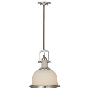 Parker Place Retro Pendant, Brushed Steel, Large