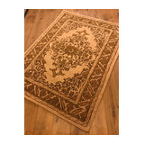 Adriana 555 Beige Beige Rectangle Traditional Rug 200x290cm