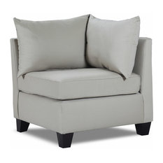 Carolina Accents   Belle Meade Corner Chair, Light Slate   Armchairs And Accent  Chairs
