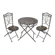 Iron 3-Piece Sun Leaves Bistro Set
