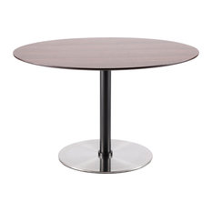 Lumisource Dillon Dining Table Walnut And Stainless Steel