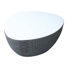 Big Stone Table Grey Base/White Mdf Surface