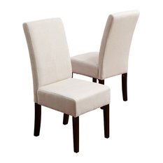 GDFStudio - Emilia Fabric Dining Chairs Ivory, Set of 2 - Dining Chairs
