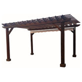 """Best Redwood - Deck Pergola With 8' Post and 18"""" Roof separation, Mission Brown, 12x12 - Experience the beauty of the Best Redwood Deck Pergola by creating the perfect spot for lounging, dining, and relaxation in your Outdoor Patio."""