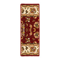 """Natural Area Rugs, Stellar Red Poly Stair Treads Carpet, 9"""" X 29"""" Set of 4"""