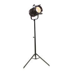 Urban Designs 71-Inch Silver Round Cinema Studio Spotlight Floor Tripod Lamp