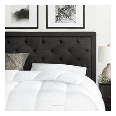 Brookside Upholstered Scoop-Edge Headboard With Square Tufting, King