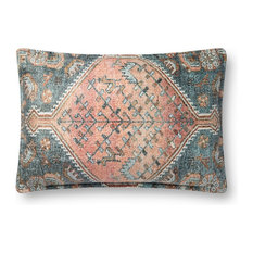 """Loloi P0821 Decorative Throw Pillow 16""""x26"""" Cover With Down Multi"""