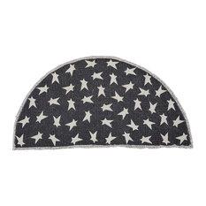 VHC Brands   Black Primitive Star Rug Half Circle   Area Rugs