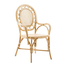 Melanie French Country Natural Rattan Living Room Chair