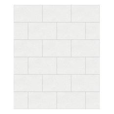 Crown London Tile, White Wallpaper