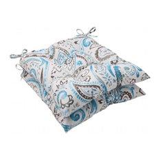 Pillow Perfect 504865 Vermilya Tidepool Wrought Iron Seat Cushion, Set of 2