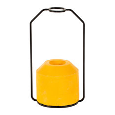 Small Weight Vase, Yellow