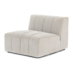 Langham Channel Tufted Armless Sectional Chair