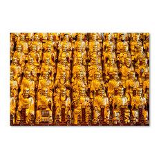 "Philippe Hugonnard 'Golden Buddhas' Canvas Art, 47""x30"""