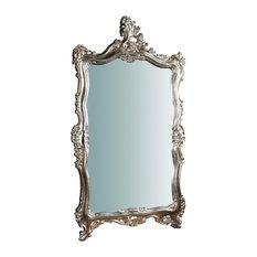 Traditional Florentine Wall Mirror, Silver, 66x118 cm