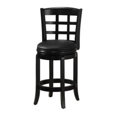 Bowery Hill 24-inch Swivel Counter Stool In Black
