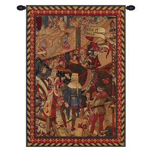 Le Tournai I Horizontal European Tapestry Wall Hanging Traditional Tapestries By European Wall Art