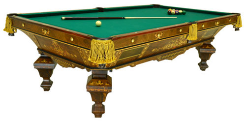 Antique Pool Tables - Brunswick chateau pool table