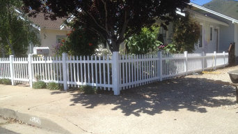 High St SLO Vinyl picket fencing