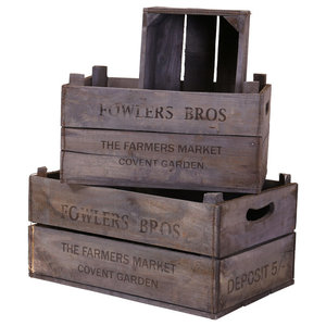 Apple Boxes, Fowlers Bros, Set of 3