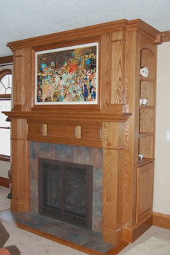 donu0027t want the tv a focal pointput it behind a painting