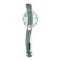 Claxton Quartz Pendulum Wall Clock, Anthracite Grey