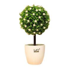 Plastic Artificial Plants, Plastic Pot