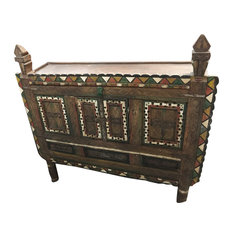 Mogul Interior - Consigned Antique Rustic Damchia Sideboard Cabinet Chest Dresser Console - Accent Chests And Cabinets