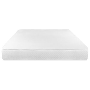 Serenia Sleep 8-inch Sculpted Reversible Foam Mattress, White, Full