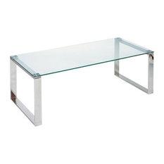 Chrome Glass Coffee Tables Houzz