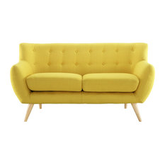 Remark Upholstered Fabric Loveseat, Sunny