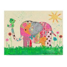 """Jennifer Mccully 'Mosaic Elephant' Canvas Art, 47""""x35"""""""