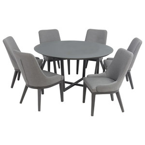 Pacific 7-Piece Outdoor Dining Set, Grey