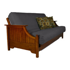 The Futon Full Cover Organic Cotton Charcoal