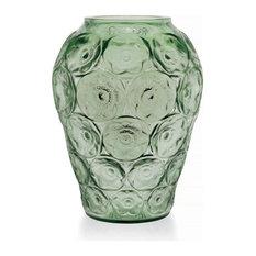 Lalique Anemones Vase, Green