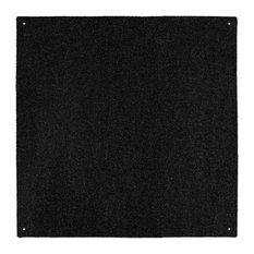 Outdoor Turf Rug Black, 10'x10'