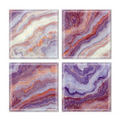 """6""""x6"""" Upscale Designs Crystal Glass Wall Tile, Set of 32"""
