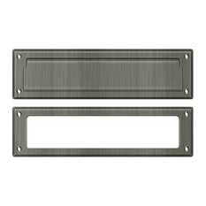 "MS211U15A Mail Slot 13-1/8"" With Interior Frame, Antique Nickel"